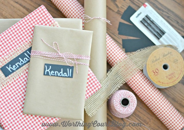 Use these few simple supplies to create pretty wrapped Christmas gifts. Easy and affordable!