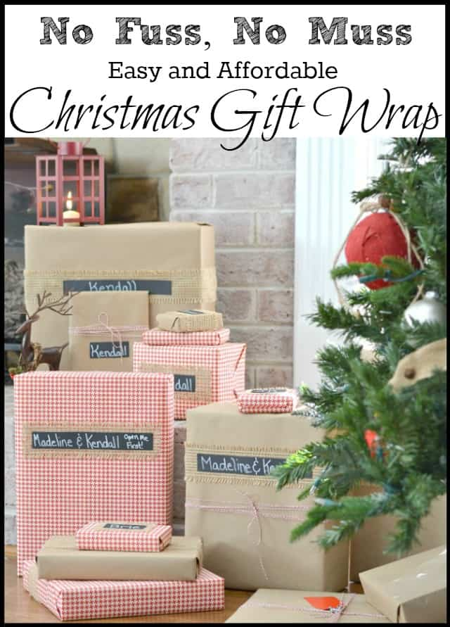 No muss, no fuss - easy and affordable Christmas gift wrap