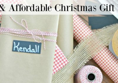 Pretty, Easy and Affordable Christmas Gift Wrapping