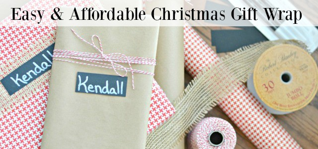 No Muss, No Fuss Easy & Affordable Christmas Gift Wrap
