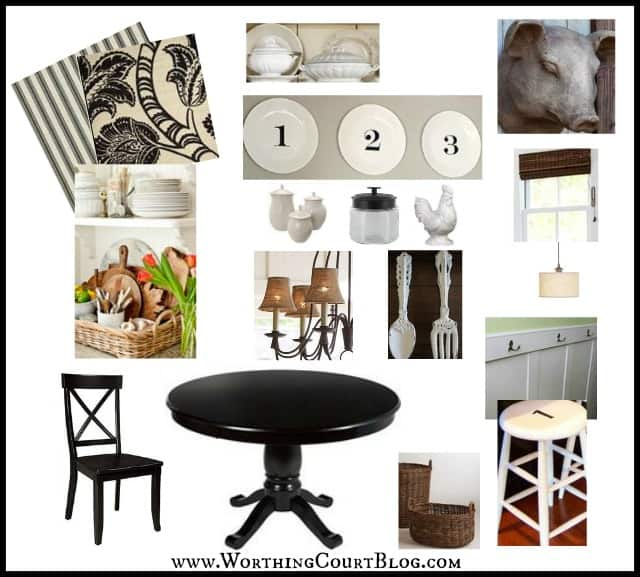 Farmhouse style kitchen mood board