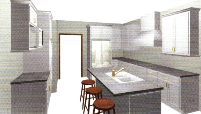 Digital rendering for kitchen renovation