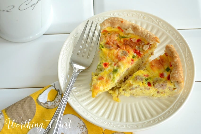Breakfast casserole with eggs and sausage