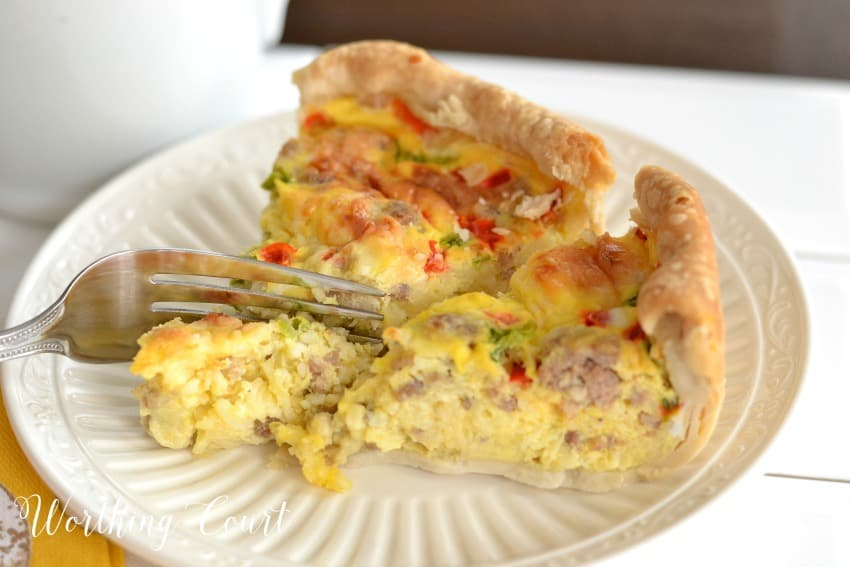 Sausage and egg breakfast casserole    Worthing Court
