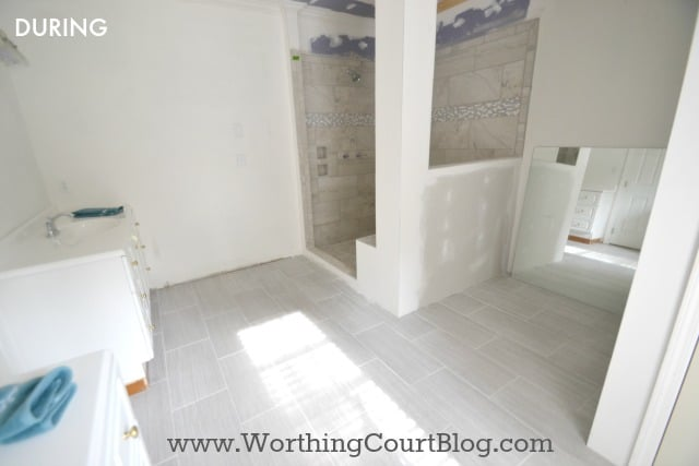 Master Bathroom Remodel During Photo