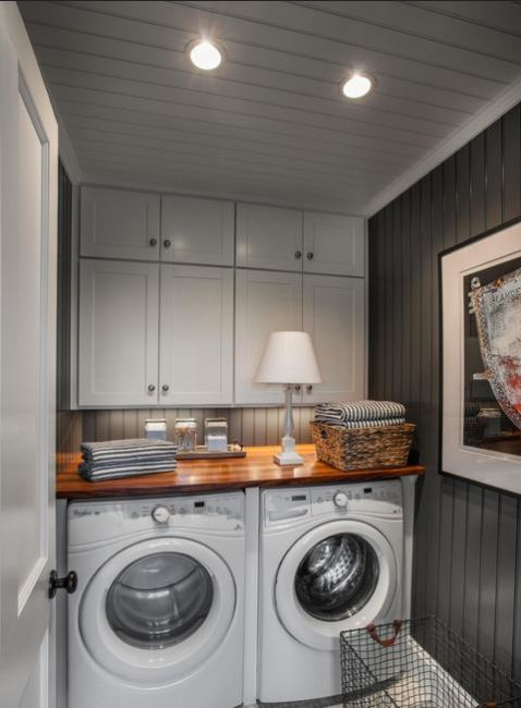 Even the smallest of laundry areas can be loaded with style.