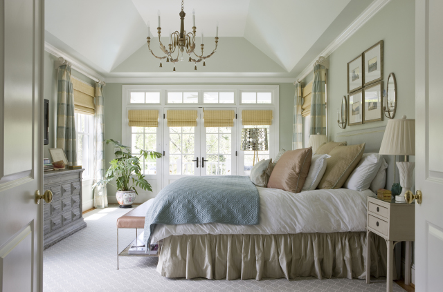 A soothing and serene master bedroom by Ivy Lane interior designers