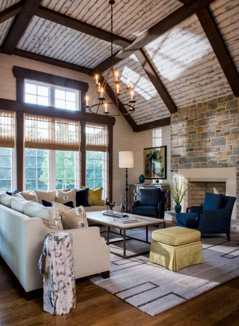 A Rustic Luxe Living Area By Ivy Lane Interior Designers