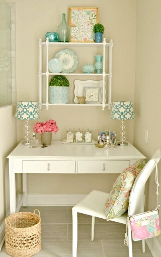 Master Bathroom Dressing Table From An Old Desk
