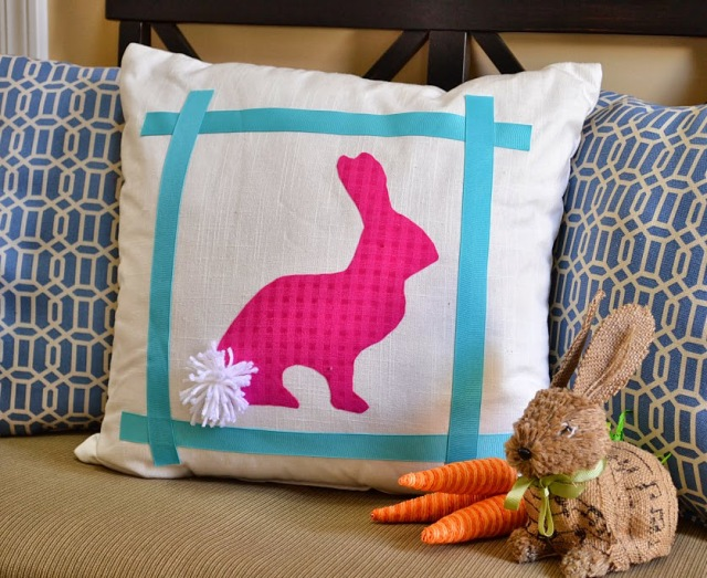 No-sew Easter bunny pillow