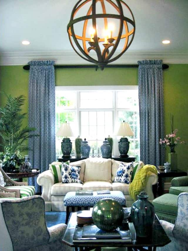 Green and Blue Room Decor