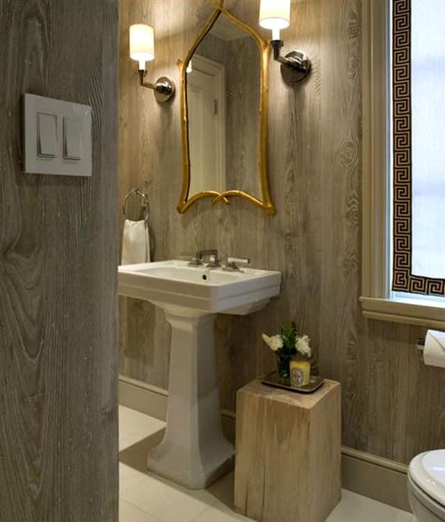Faux bois wallpaper