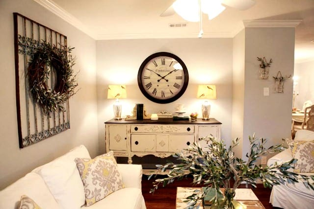 A rustic clock from Fixer Upper