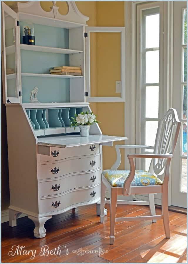 Fresh look for an old secretary desk