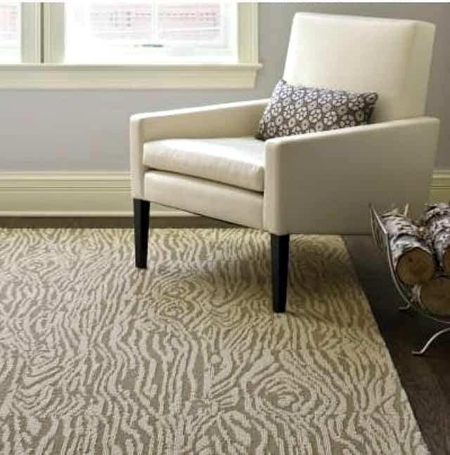 Faux bois area rug