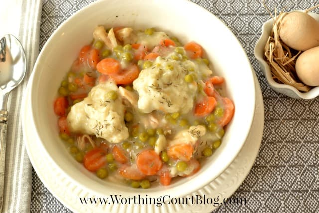 Recipe for Easy Chicken and Dumplings Stew