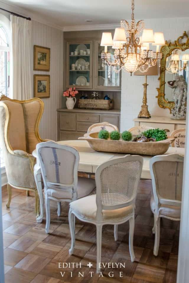 A beautiful French country dining room renovation