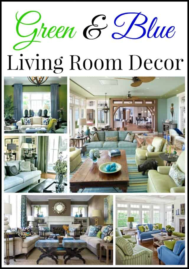 Inspiring Ideas for Green and Blue Living Room decor