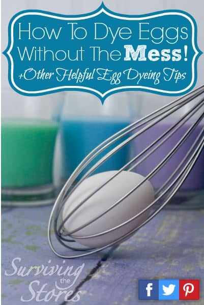 Use a whisk to hold Easter eggs for dying