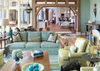 5 On Friday:  Green And Blue Living Room Decor