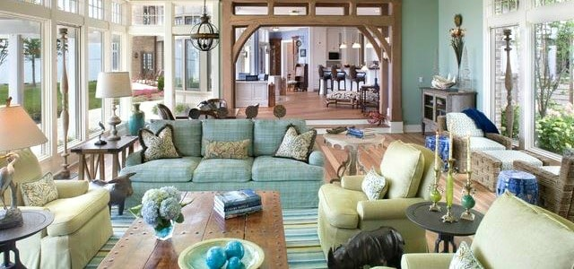 Inspiring Ideas for Green and Blue Living Room Decor