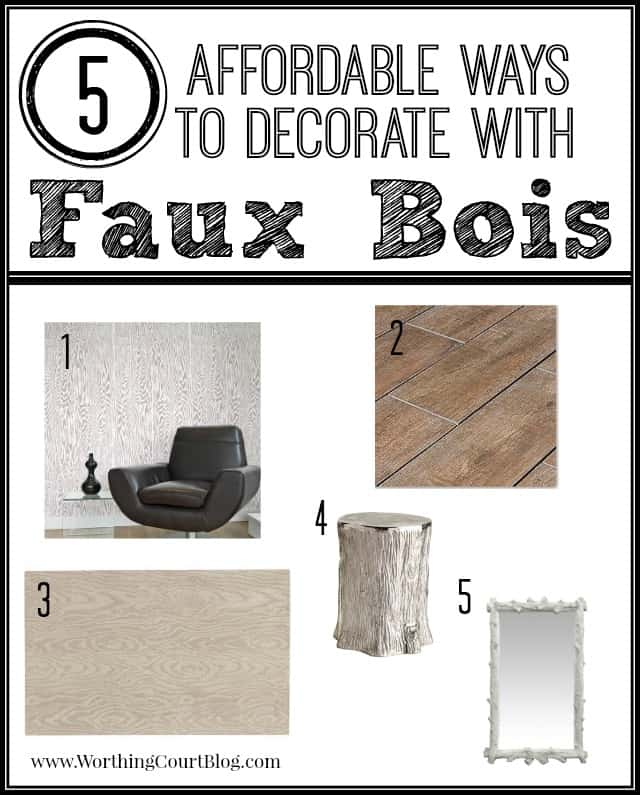 5 Affordable Ways to Decorate With Faux Bois