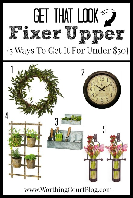 5 Ways to get that Fixer Upper look for under $50