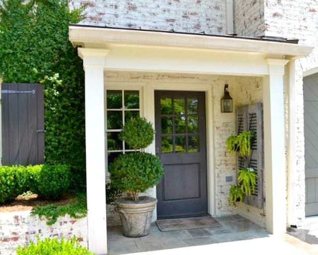 Get rid of the ho-hum's on a small porch with the additional of architectural elements