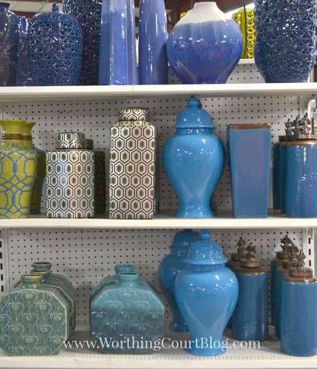 Blue home decor accessories