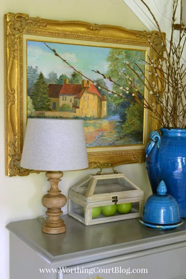 Foyer chest decor