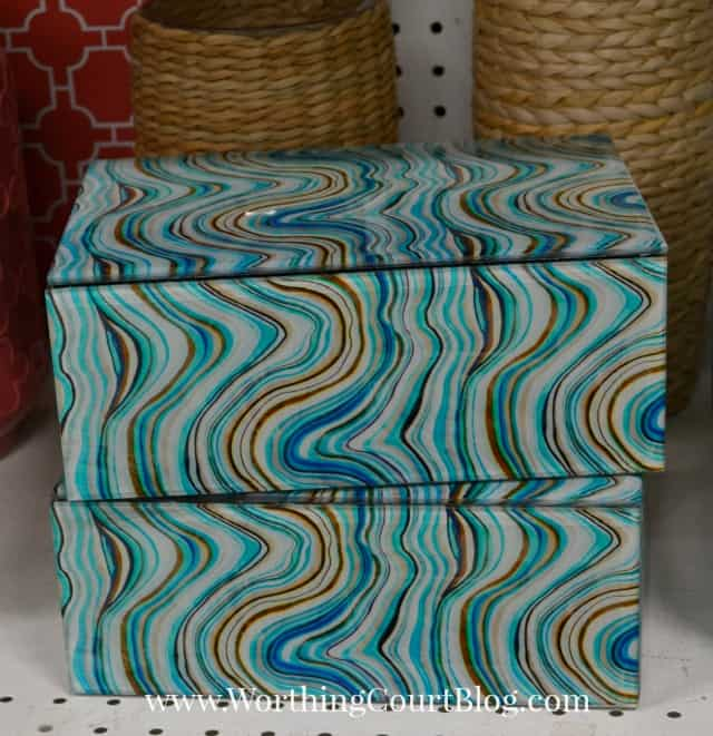 Marbled decorative boxes