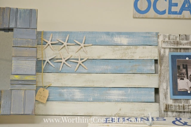 Beachy flag with starfish stars