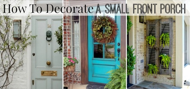 Porch Decor how to decorate a small front porch - worthing court