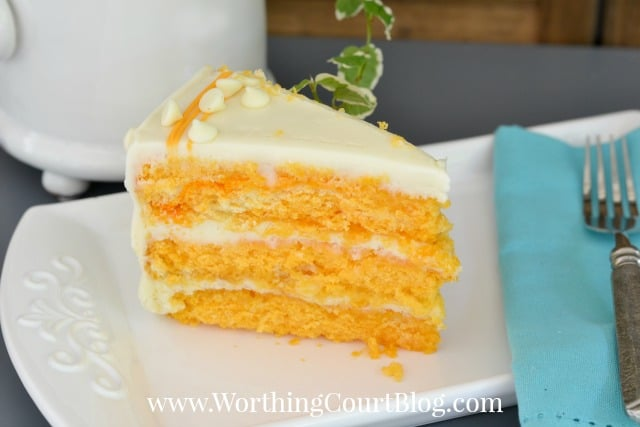 Recipe for Orange Creamsicle Cake