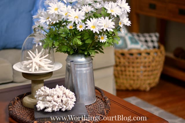 Summer coffee table vignette