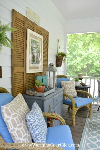 Screen Porch Makeover Reveal