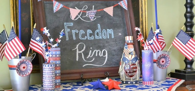 A patriotic vignette for Memorial Day, Flag Day and July 4th