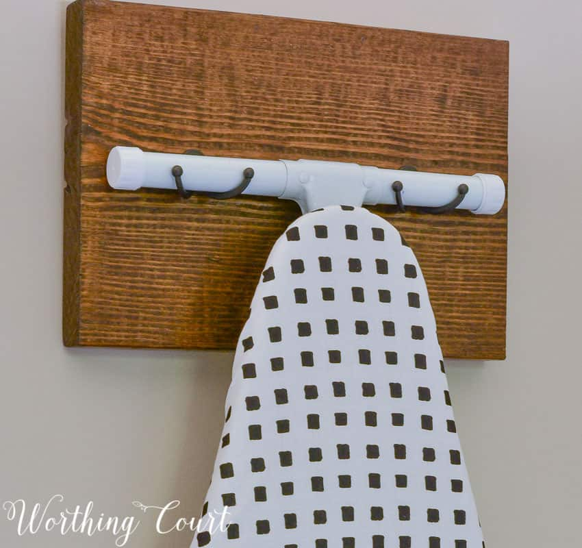 DIY ironing board hanger || Worthing Court