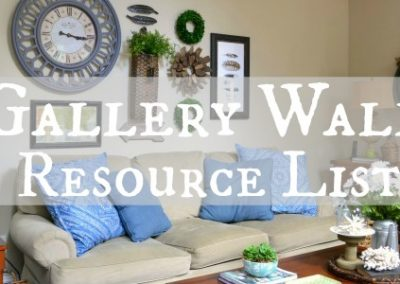 My Gallery Wall Resource List