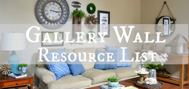 Gallery wall resource List
