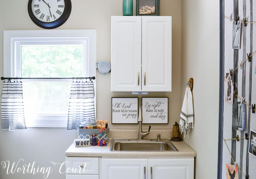 Laundry room sink area || Worthing Court