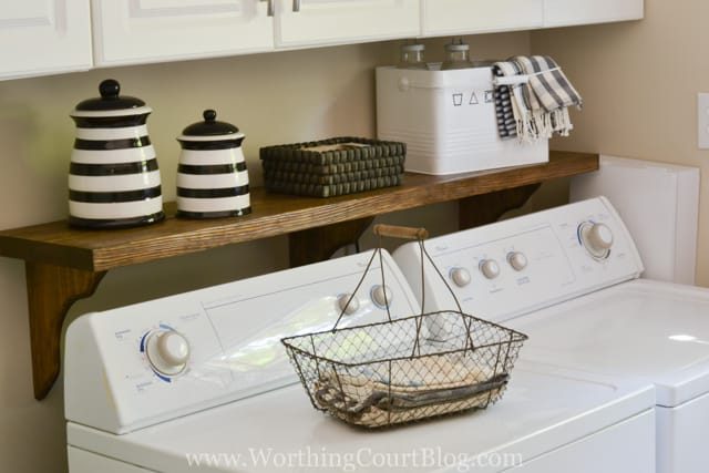An Easy DIY To Hide Your Ugly Washer Hookups | Worthing Court