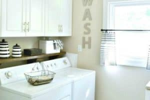 Laundry Room Reveal – Before And After