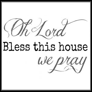 Free 11.5 Inch Square Bless This House Square Printable