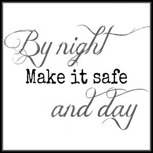 Free 11.5 Inch Square Make It Safe Printable