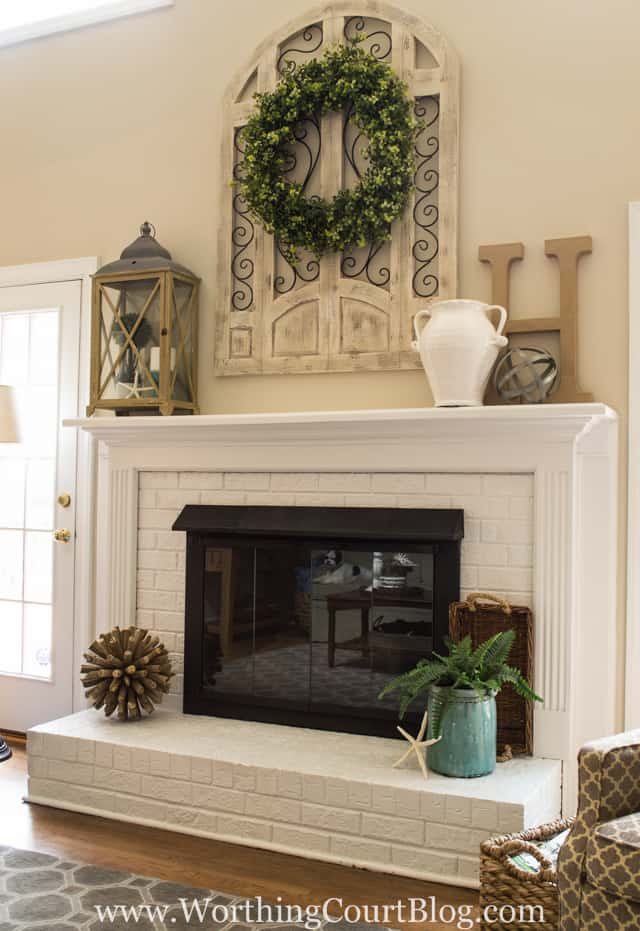 Amazing fireplace makeover using paint