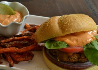 Veggie Cheeseburgers With Spicy Chipotle Mayo Sauce Recipe