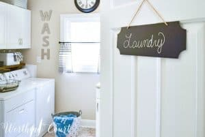 entrance to laundry room