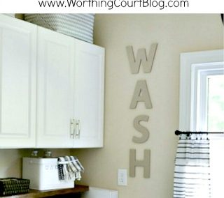 An Easy DIY To Hide Your Ugly Washer Hookups