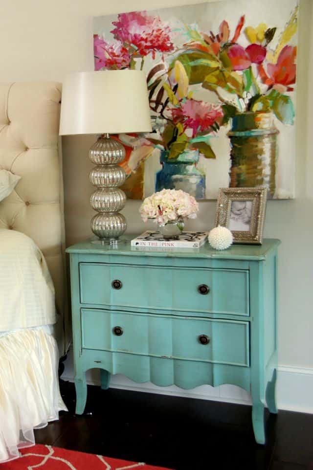 Pretty bedside chest from Colordrunk Designs